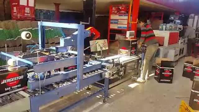 دستگاه چسب زن و دربند اتوماتیک زیر و روی کارتن مدل DN-SM11A