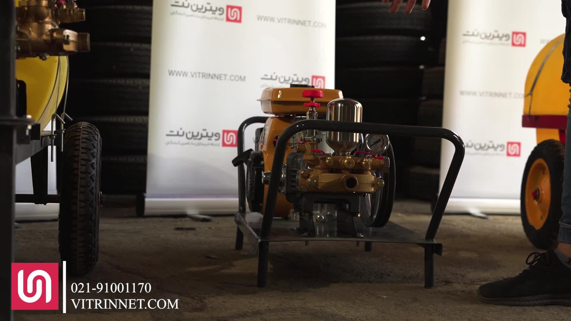 سمپاش زنبه ای با موتور روبین اصلی و پمپ لوشانگ تایوان مدل 16697